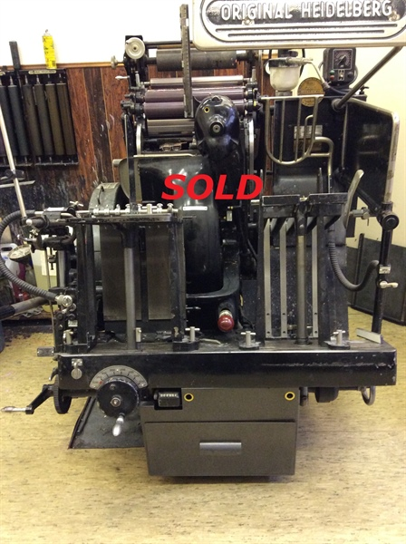 HEIDELBERG TIEGEL - HOT FOIL  ***** SOLD *****